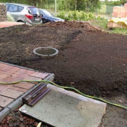 bau eines blockbohlenhaus im garten 7 - Der Bau einer Blockbolengarage im Garten