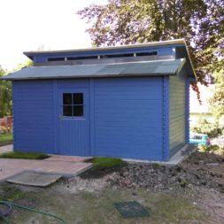 bau eines blockbohlenhaus im garten 70 - Der Bau einer Blockbolengarage im Garten