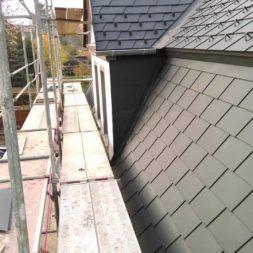 dach mit prefa alublech eindecken 112 - Der PREFA Stier kommt auf das Dach