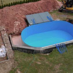 pool aufbau und anschluss 12 - Projekt Poolbau – Der Aufbau des Stahlwandpools