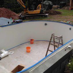 pool aufbau und anschluss 3 - Projekt Poolbau – Der Aufbau des Stahlwandpools
