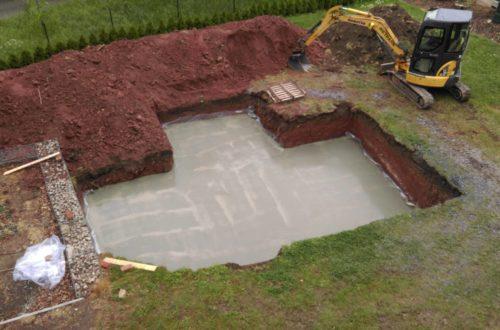 pool schacht und mauerarbeiten 26 - Baugrube und Bodenplatte – Unser Poolprojekt schreitet voran