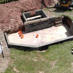 pool schacht und mauerarbeiten 47 1 - Projekt Poolbau – Das Technikhaus