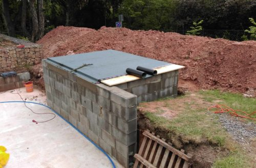 pool schacht und mauerarbeiten 59 - Projekt Poolbau – Das Technikhaus