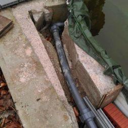 abgrenzung der bpc wpc dielen poolterrasse 1 - Projekt Poolterrasse – Vorbereitung und Start