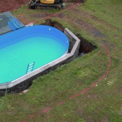 pool aufbau und anschluss 25 - Projekt Poolterrasse – Vorbereitung und Start