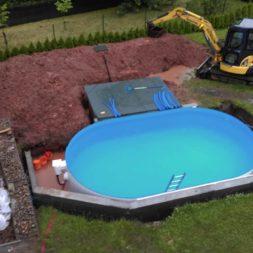 pool aufbau und anschluss 26 - Projekt Poolterrasse – Vorbereitung und Start