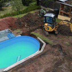 pool aufbau und anschluss 29 - Projekt Poolterrasse – Vorbereitung und Start