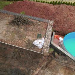 pool aufbau und anschluss 30 - Projekt Poolterrasse – Vorbereitung und Start
