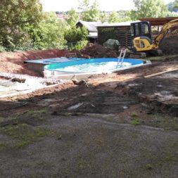 pool aufbau und anschluss 31 - Projekt Poolterrasse – Vorbereitung und Start