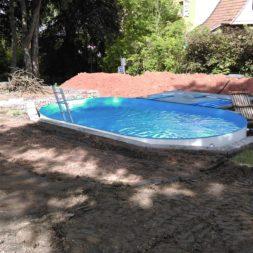 pool aufbau und anschluss 33 - Projekt Poolterrasse – Vorbereitung und Start