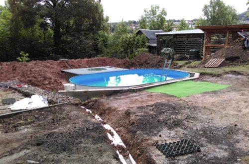 pool aufbau und anschluss 47 - Projekt Poolterrasse – Vorbereitung und Start