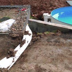 pool aufbau und anschluss 49 - Projekt Poolterrasse – Vorbereitung und Start