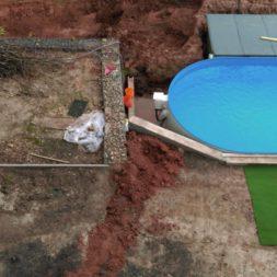 pool aufbau und anschluss 54 - Projekt Poolterrasse – Vorbereitung und Start