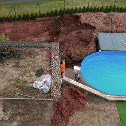 pool aufbau und anschluss 55 - Projekt Poolterrasse – Vorbereitung und Start