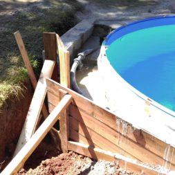 pool aufbau und anschluss 56 - Projekt Poolterrasse – Vorbereitung und Start