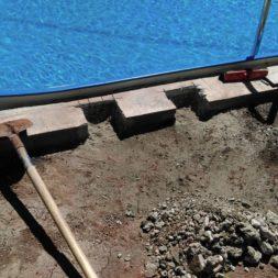 pool aufbau und anschluss 61 - Projekt Poolterrasse – Vorbereitung und Start