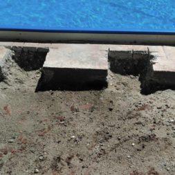 pool aufbau und anschluss 62 - Projekt Poolterrasse – Vorbereitung und Start