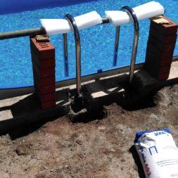 pool aufbau und anschluss 63 - Projekt Poolterrasse – Vorbereitung und Start
