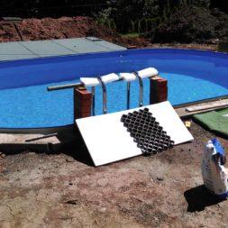 pool aufbau und anschluss 64 - Projekt Poolterrasse – Vorbereitung und Start