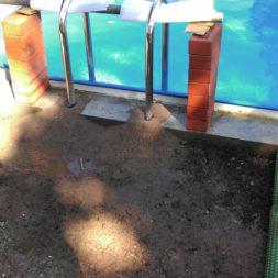 pool aufbau und anschluss 65 - Projekt Poolterrasse – Vorbereitung und Start