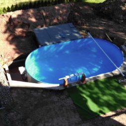 pool aufbau und anschluss 68 - Projekt Poolterrasse – Vorbereitung und Start
