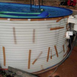 pool aufbau und anschluss 69 - Projekt Poolterrasse – Vorbereitung und Start