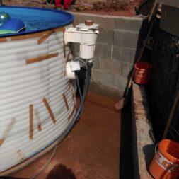 pool aufbau und anschluss 70 - Projekt Poolterrasse – Vorbereitung und Start