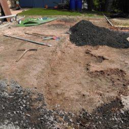 pool aufbau und anschluss 71 - Projekt Poolterrasse – Vorbereitung und Start