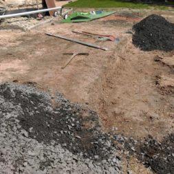 pool aufbau und anschluss 72 - Projekt Poolterrasse – Vorbereitung und Start