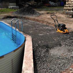 pool aufbau und anschluss 74 - Projekt Poolterrasse – Vorbereitung und Start
