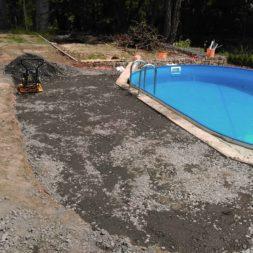 pool aufbau und anschluss 75 - Projekt Poolterrasse – Vorbereitung und Start