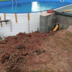 pool aufbau und anschluss 76 - Projekt Poolterrasse – Vorbereitung und Start