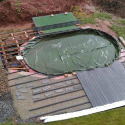 einbau der bpc wpc dielen poolterrasse 12 - Projekt Poolterrasse –  Bau der Unterkonstruktion und Verlegen der BPC Dielen
