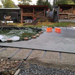 einbau der bpc wpc dielen poolterrasse 14 - Projekt Poolterrasse –  Bau der Unterkonstruktion und Verlegen der BPC Dielen