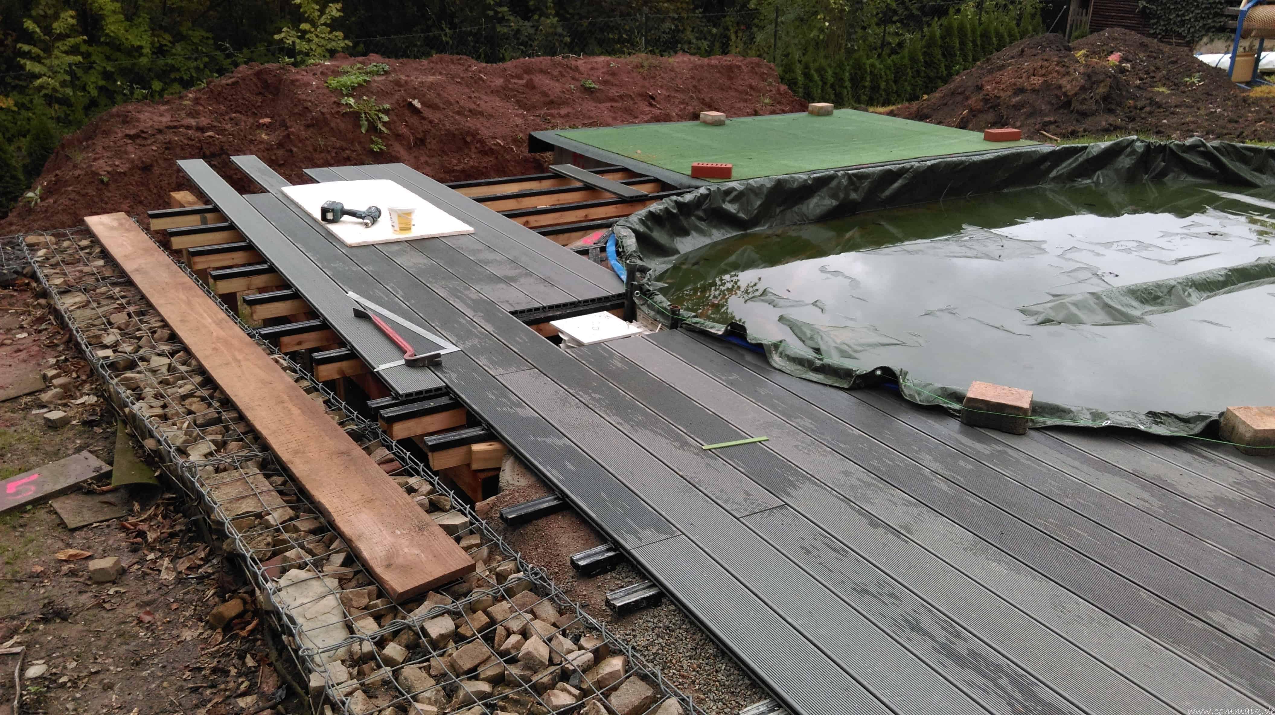 Projekt Poolterrasse – Bau der Unterkonstruktion und Verlegen der ...