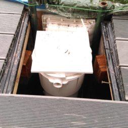 einbau der bpc wpc dielen poolterrasse 22 1 - Projekt Poolterrasse –  Bau der Unterkonstruktion und Verlegen der BPC Dielen