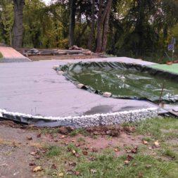 einbau der bpc wpc dielen poolterrasse 27 - Projekt Poolterrasse –  Bau der Unterkonstruktion und Verlegen der BPC Dielen