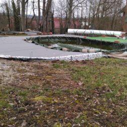 einbau der bpc wpc dielen poolterrasse 29 - Projekt Poolterrasse –  Bau der Unterkonstruktion und Verlegen der BPC Dielen