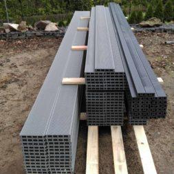 einbau der bpc wpc dielen poolterrasse 5 - Projekt Poolterrasse – Bau der freistehenden Unterkonstruktion für die BPC Dielen