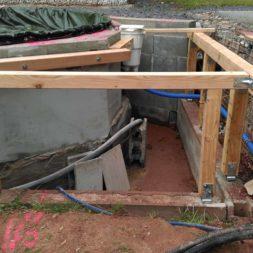 unterkonstruktion bpc wpc poolterrasse 11 - Projekt Poolterrasse – Bau der freistehenden Unterkonstruktion für die BPC Dielen