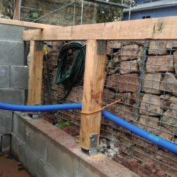 unterkonstruktion bpc wpc poolterrasse 12 - Projekt Poolterrasse – Bau der freistehenden Unterkonstruktion für die BPC Dielen