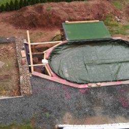 unterkonstruktion bpc wpc poolterrasse 13 - Projekt Poolterrasse – Bau der freistehenden Unterkonstruktion für die BPC Dielen