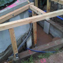 unterkonstruktion bpc wpc poolterrasse 14 - Projekt Poolterrasse – Bau der freistehenden Unterkonstruktion für die BPC Dielen