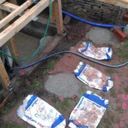 unterkonstruktion bpc wpc poolterrasse 19 - Projekt Poolterrasse – Bau der freistehenden Unterkonstruktion für die BPC Dielen