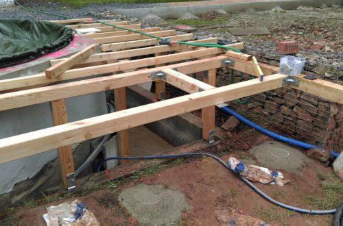 unterkonstruktion bpc wpc poolterrasse 20 - Projekt Poolterrasse – Bau der freistehenden Unterkonstruktion für die BPC Dielen