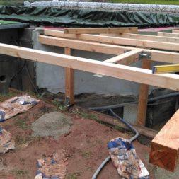 unterkonstruktion bpc wpc poolterrasse 21 - Projekt Poolterrasse – Bau der freistehenden Unterkonstruktion für die BPC Dielen