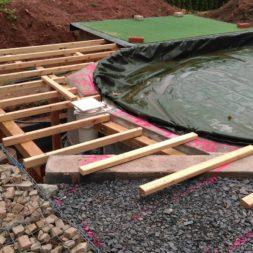unterkonstruktion bpc wpc poolterrasse 23 - Projekt Poolterrasse – Bau der freistehenden Unterkonstruktion für die BPC Dielen