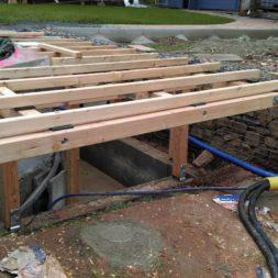 unterkonstruktion bpc wpc poolterrasse 24 - Projekt Poolterrasse – Bau der freistehenden Unterkonstruktion für die BPC Dielen