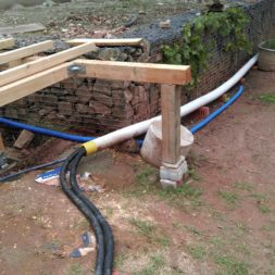 unterkonstruktion bpc wpc poolterrasse 25 - Projekt Poolterrasse – Bau der freistehenden Unterkonstruktion für die BPC Dielen